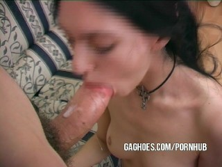 Gagging And Facial For Innocent Tiny Emo Bitch
