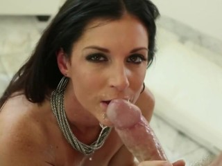 Love Shit Model While Having Neck Throated Deeply