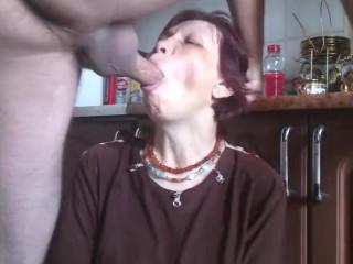 Mature Mom Getting Hardcore Deepthroat Fuck Ends Sperm On Her Face