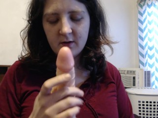 Vibrator Blow-Job And Gagging