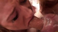 Redhead Whore Sabrina Jay Gets Throated And Coated With Spunk
