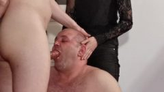 Young Goth Domina Help Her Daddy To Facefuck Slave Pt1 High Def