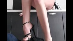 Stiletto And Barefeet Trampling, Feet Gagging And Slapping. Femdom