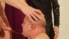 Dominant Couple Gagging & Sticky Facefuck Deepthroat A Slave High Definition Full