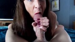 Titillating Granny Massive Dick Blow-Job Spunk In Mouth Keeps Sucking Dick