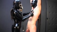 German Latex Mask Goddess Bang's Slave Raw