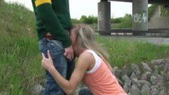 Amateur German Very Risky Public Blow Job And Sperm Slurp