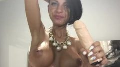 Anisyia Livejasmin Creamy Blow Job And Gagging, Big Boobs Covered In Spit