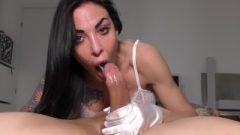 Luxury Sticky Deepthroat In White Gloves! Authentic Brutal Throatpie!