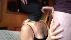 My Gag Mask. I Beg Him To Face Fuck Me, Make Me Gag And Sperm In My Throat.