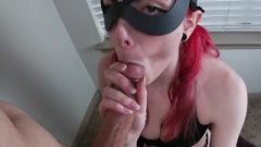 Tiny Young Flashes Off Intense Deep Throating Technique For A Huge Facial